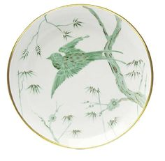 Alberto Pinto Envol Green Bird Dinner Plate
