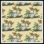member's free christmas robins on watering can backing paper pack cream
