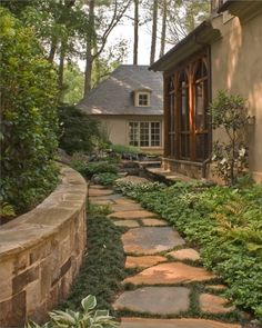 a path for the side yard