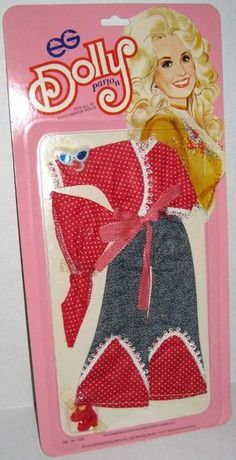 MEGO: 1976 Dolly Parton Fashion Doll Outfit (Red Polka Dots 'n Denim)