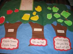 Cute idea for graphing apples!