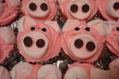 another good first birthday idea... piggy cupcakes!