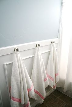 A different take on towel bars for a kid's bathroom