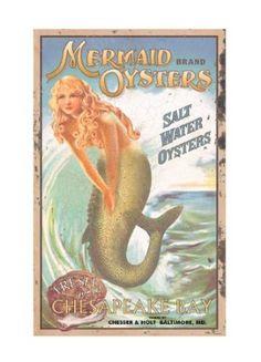 Ohio Wholesale Mermaid Advertising Sign Wall Art: Amazon.com: Home & Kitchen