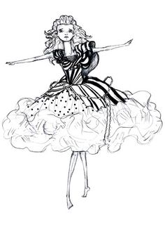 Colleen Atwood's sketch for Alice in Tim burton's film. <3