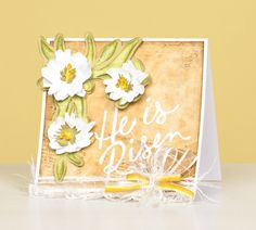 He Is Risen #Cricut card for Easter