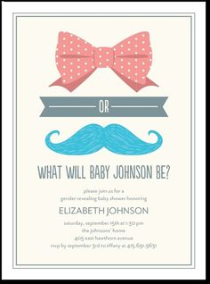 Bow or Boy: Ore, adorable if having gender neutral baby shower