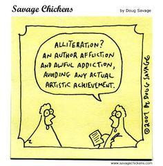 Savage Chicken Alliteration  #alliteration  #poetry #writing #savagechickens