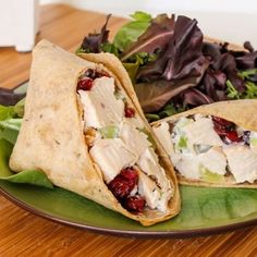Sonoma Chicken Salad Wraps by Eat Spin Run Repeat