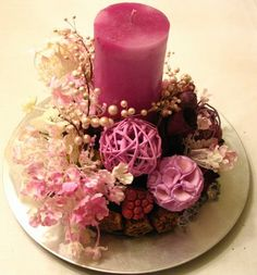 Pink Christmas Centerpiece