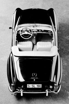 1955 Mercedes-Benz 190SL. Ok, I like  soccer-mom cars....but THIS ONE!!  ..... is something which makes me forget about vans, minivans, blah, blah, blah.....