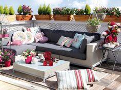 decoración de terraza, diseño de exteriores, aire libre