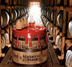 Maker's Mark, one of the fabulous distilleries in KY.