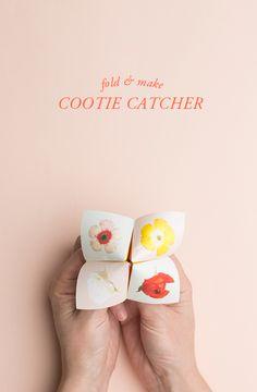 Printable cootie catcher