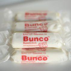 Cute idea for Bunco treat bowls!
