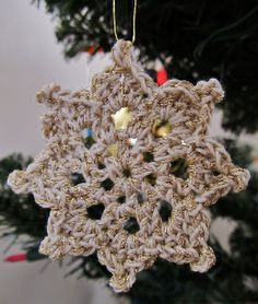 Christmas Star by Jennifer Stark #crochet star ornament, christma crochet, crochet star, crochet christma, christma ornament, crochet patterns, christma star, snowflak, christmas stars