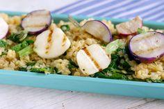 Grilled Radish, Greens and Lentil Salad Recipe