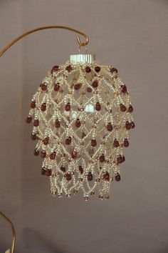 desert bead, bead christma, beaded christmas ornaments, bead ornament, ornament cover, christma ornament
