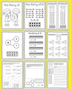 The Story of 10 Print + Learn Math Kit >> Teach addition facts and number 10 bonds with fun games, hands on activities, and posters.