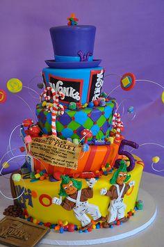chocolate factory, chocol factori, willi wonka, wonka cake, kid birthdays, kid birthday parties, birthday ideas, kid cakes, birthday cakes