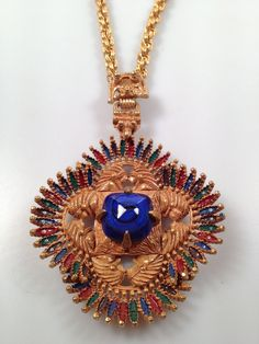 1970s Vintage CASTLECLIFF Pendant Necklace by thepopularjewelry, $275.00