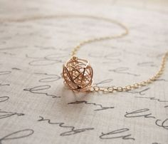 Tangle Ball Necklace silver necklaces, balls, style, accessori, ball necklac, tangl ball, gold tangl, jewelri, rose gold