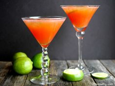 Summertime Blood Orange Martinis
