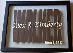 Personalized names floating frame wedding gift. $35.00, via Etsy.