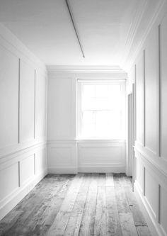 Old white wood floor