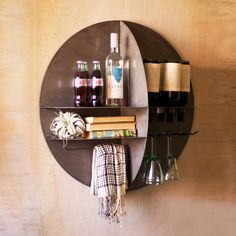 wall-mounted wine bar