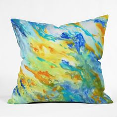 Rosie Brown Sunset Inspired Throw Pillow | DENY Designs Home Accessories   #pillow #throwpilow #homedecor #art #abstract #denydesigns