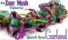 Party Ideas by Mardi Gras Outlet: Mardi Gras Garland Tutorial: Deco Mesh Work Garland Form