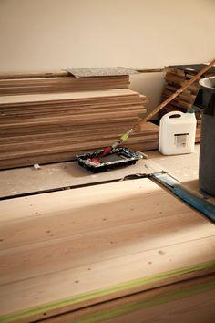 Remodeling 101: Whitewashed Floors