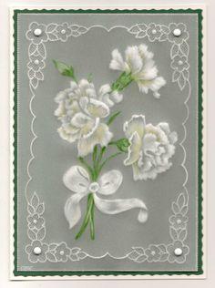 pergamano, parchment craft cards, card colour, parchment cards