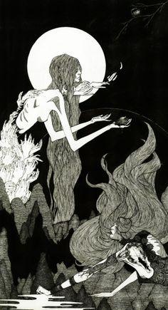 Lilith 2011 by Mia Calderone, via Behance #illustration #drawing #bw #lilith