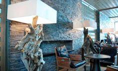 Charcoal Natural Stacked Stone Veneer Fireplace | Stack Stone Veneer Fireplaces | Norstone USA