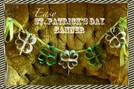 Shamrock Banner - So easy! thecraftingchicks.com #shamrock #banner #craftingchicks