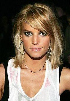 mid length, hair colors, short haircuts, medium haircuts, new hair, short hairstyles, side bangs, short cuts, shoulder length hair