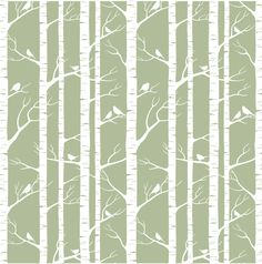 Birch removable wallpaper