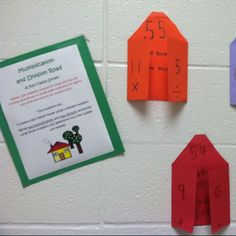 Multiplication & division fact family houses