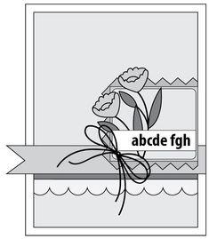 basic grey card sketch