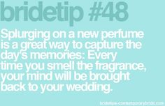 An excuse for new perfume?