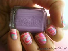 best water marbled nail!!