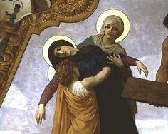 saint loui, william adolphe bouguereau, artbouguereau williamadolph, mother mari, france