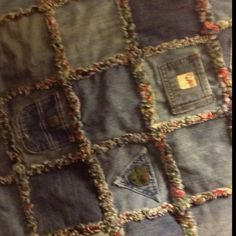Quilt made from jeans my boys wore as babies.