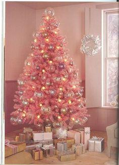 pink christmas tree!!!!
