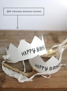 Imprimibles gratis de coronas de cumpleaños >> Printable Happy Birthday Crowns