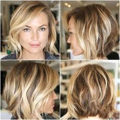 Dare to go shorter? Blonde bobs are cute and flirty.