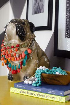 Bejeweled Bulldog - Home Tour via MakelyHome.com