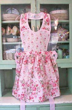 Pretty pink apron!